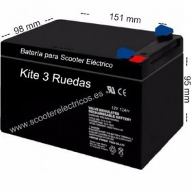 Bateria Scooter Kite 3 ruedas